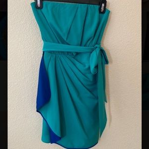 Express Turquoise and Blue Dress